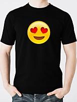 abordables -camisetas led resplandor de algodón puro led casual 2 × aa