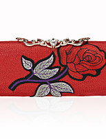 preiswerte -Damen Taschen Polyester Abendtasche Knöpfe Stickerei für Hochzeit Veranstaltung / Fest Ganzjährig Gold Schwarz Silber Rote Fuchsia
