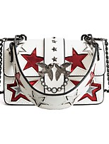 cheap -Women's Bags PU Shoulder Bag Rivet / Pearls / Tiered for Wedding / Event / Party White / Black