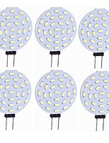 abordables -SENCART 6pcs 1.5W 160 lm G4 LED à Double Broches T 27 diodes électroluminescentes SMD 4014 Décorative Blanc Chaud Blanc 12V