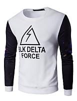 cheap -Men's Sweatshirt - Color Block Letter, Print