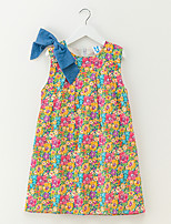 cheap -Girl's Daily Floral Dress, Polyester Summer Sleeveless Cute Rainbow