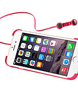 cheap -Case For Apple iPhone 6s iPhone 6 with Stand Earphone Back Cover Solid Color Hard PC for iPhone 6s iPhone 6