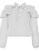 cheap -Women's Simple Shirt - Polka Dot Shirt Collar