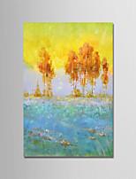 baratos -Pintados à mão Abstrato Paisagem Vertical, Modern Tela de pintura Pintura a Óleo Decoração para casa 1 Painel