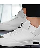 Недорогие -Муж. обувь Полиуретан Осень Зима Удобная обувь Кеды для Повседневные на открытом воздухе Белый Черный Коричневый