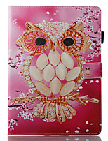 cheap -Case For Apple iPad 10.5 iPad (2017) Wallet with Stand Flip Pattern Auto Sleep/Wake Up Full Body Cases Owl Hard PU Leather for iPad 4/3/2