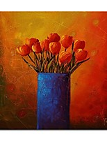 cheap -Oil Painting Hand Painted - Still Life Floral / Botanical Comtemporary Modern Canvas