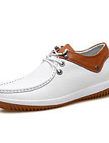 cheap -Men's Shoes Nappa Leather Spring Fall Comfort Oxfords for Casual Office & Career White Blue