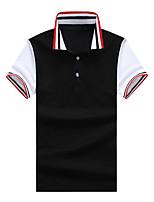 cheap -Men's Polo - Color Block Shirt Collar