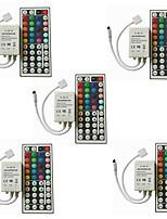 cheap -5pcs 44keys Strip Light Accessory IR Remote Control Plastic for RGB LED Strip Light
