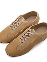 cheap -Women's Jazz Knit Synthetic Microfiber PU Flat Sneaker Professional Flat Heel Black Light Yellow <1 Customizable
