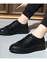 baratos -Homens sapatos Pele Outono Inverno Conforto Tênis para Casual Branco Preto