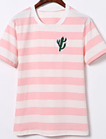 cheap -women's polyester t-shirt - striped