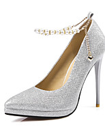 cheap -Women's Shoes Sparkling Glitter Paillette Spring Summer Basic Pump Heels Stiletto Heel Pointed Toe for Wedding Party & Evening Black