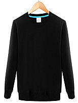 cheap -Men's Sweatshirt - Solid Round Neck