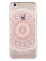 cheap -Case For Apple iPhone 8 iPhone 7 Pattern Back Cover Mandala Soft TPU for iPhone 8 Plus iPhone 8 iPhone 7 Plus iPhone 7 iPhone 6s Plus