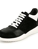 Недорогие -Муж. обувь Кожа Весна Осень Удобная обувь Кеды для Повседневные на открытом воздухе Черный
