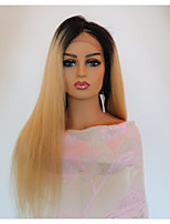cheap -Virgin Human Hair Lace Front Wig Wig Brazilian Hair Straight With Baby Hair 150% Density Natural Hairline Women's Long Human Hair Lace Wig