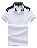 cheap -Men's Active / Street chic Polo - Solid Colored / Striped