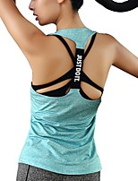 cheap -Women's Running T-Shirt Sleeveless Breathability Tank for Outdoor Exercise Multisport Polyester White Black Green Blue Pink S M L