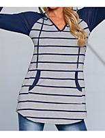 economico -T-shirt Per donna A strisce Colletto
