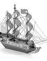 cheap -3D Puzzles Metal Puzzles Pirate Ship Focus Toy Hand-made Metal 1pcs Standing Style Nautical Toy Kid's Adults' Girls' Boys' Gift
