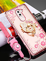 cheap -Case For Huawei Enjoy 6X Shockproof Rhinestone with Stand Back Cover Flower Soft Silicone for Huawei Enjoy 6X