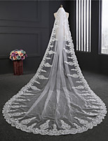 cheap -One-tier Classical Wedding Veil Cathedral Veils 53 Crystals/Rhinestones Tulle