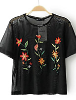 cheap -Women's Going out Vintage Slim Blouse - Floral