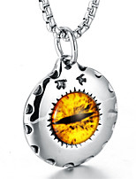 preiswerte -Herrn Böser Blick Anhängerketten - Stahl Titan Freizeit Modisch Cool Böser Blick Modische Halsketten Für Alltag Strasse