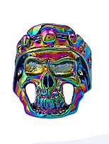 cheap -Men's Colorful Statement Ring - Skull Colorful Cool Rock Gold Silver Rainbow Ring For Bar Club