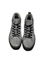 preiswerte -Herrn Schuhe Schweineleder Winter Komfort Sneakers für Normal Schwarz Grau Khaki