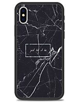 cheap -Case For Apple iPhone X iPhone 8 Plus Pattern Back Cover Word / Phrase Marble Hard Acrylic for iPhone X iPhone 8 Plus iPhone 8 iPhone 7