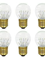 baratos -BRELONG® 6pcs 3W 300 lm E26/E27 Lâmpada Redonda LED 17 leds SMD Branco Quente 220-240V