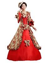 abordables -Conte de Fée Renaissance Années 20 Costume Femme Robes Costume Bal Masqué Costume de Soirée Tenue Rouge Vintage Cosplay Polyester Sans