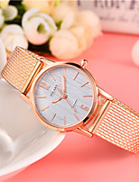 cheap -Women's Fashion Watch Chinese Quartz Casual Watch Alloy Band Minimalist Colorful Black Red Gold Rose