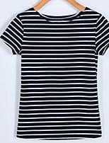 abordables -Tee-shirt Femme,Rayé Business