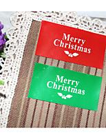 Недорогие -Праздник Наклейки и теги - 4 Новогодняя тематика Прямоугольная Наклейки Все сезоны