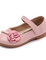 cheap -Girls' Shoes PU Leather Spring Summer Comfort Flats Flower for Casual Dress Blue Pink