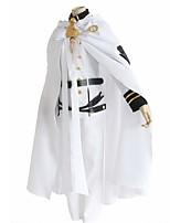 baratos -Inspirado por Serafim do Fim Outro Anime Fantasias de Cosplay Ternos de Cosplay Sólido Manga Longa N/A Casaco Calças Colar Cinto
