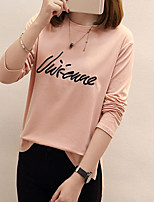 cheap -Women's Plus Size Loose T-shirt - Letter