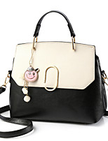 cheap -Women's Bags PU Tote Pearl Detailing for Event/Party Casual All Seasons Blue Black Blushing Pink Military Green Dark Grey