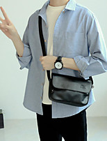 cheap -Men's Bags PU Shoulder Bag Zipper for Casual Black