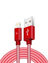 Недорогие -Подсветка Адаптер USB-кабеля Компактность Быстрая зарядка Назначение iPhone 200 cm Пластик Нейлон