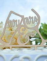 cheap -Cake Topper Classic Theme Wedding New Cut Out Wooden/Bamboo Wedding Birthday with Sided Hollow Out 1 OPP