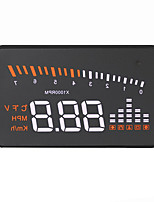 cheap -VX5 Head Up Display Alarm High temperature alarm Low voltage alarm Speed Warning Plug and play for Truck Bus Car Display KM/h MPH
