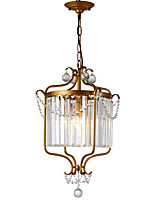 abordables -LightMyself™ Lustre Lampe suspendue Lumière d'ambiance - Cristal, Antique LED, 110-120V 220-240V Ampoule non incluse
