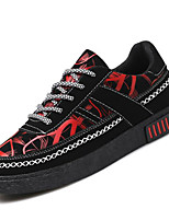 cheap -Men's Shoes Leatherette Spring Fall Comfort Sneakers for Casual Black/White Black/Red Black/Blue