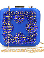 cheap -Women's Bags Satin Evening Bag Crystal Detailing for Wedding Event/Party All Seasons Blue Gold Green Black Silver